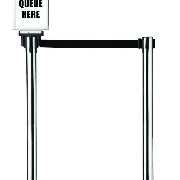 Retractable Crowd Control Barrier