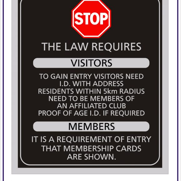 Custom Gaming & Liquor Compliance Signs