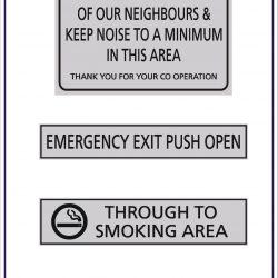 Foyer Signs