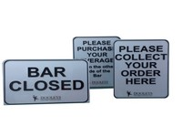 Acrylic Counter Signs
